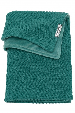 Meyco Deken Waves Velvet Emerald Green <br> 75 x 100 cm