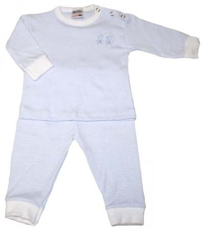 Beeren Bodywear Pyjama Blauw Streep