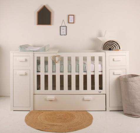 Babykamer Daan Baby Dump.Combi Ledikant Commode Land Van Maas En Waal Happy Baby Baby Dump