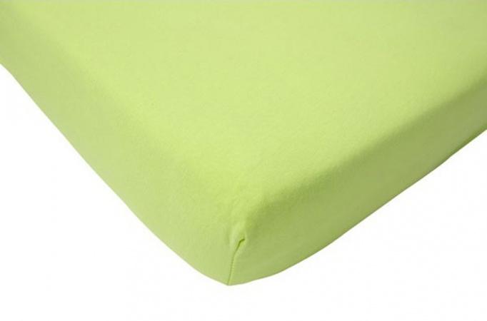 Jollein Hoeslaken Jersey Lime <br>          60 x 120 cm