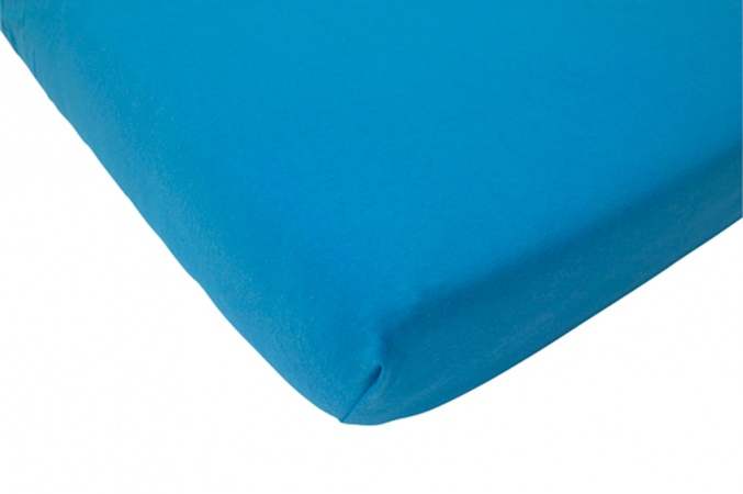Hoeslaken Jersey Turquoise <br> 60 x 120 cm