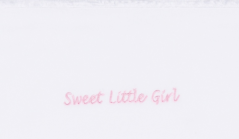 Briljant Laken Sweet Little Girl roze<br> 75 x 100 cm