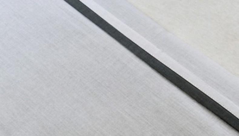 Jollein Laken Wit Met Bies Antraciet <br>120 x 150 cm