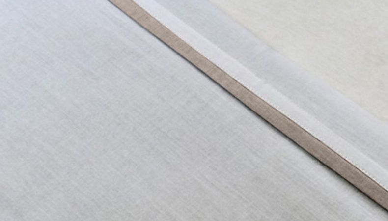 Jollein Laken Wit Met Bies Zand <br> 120 x 150 cm