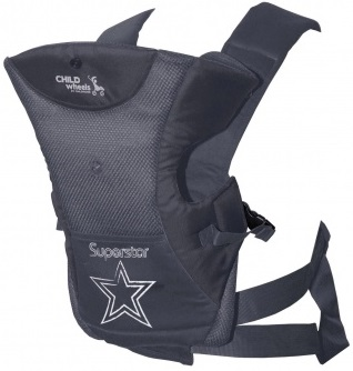 Childhome Baby Carrier <br>Antraciet Superstar