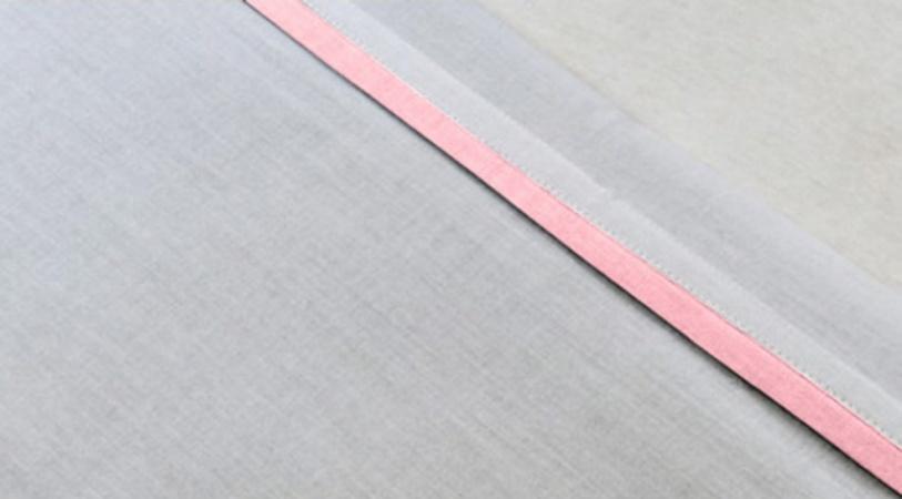 Jollein Laken Wit Met Bies Roze <br> 120 x 150 cm