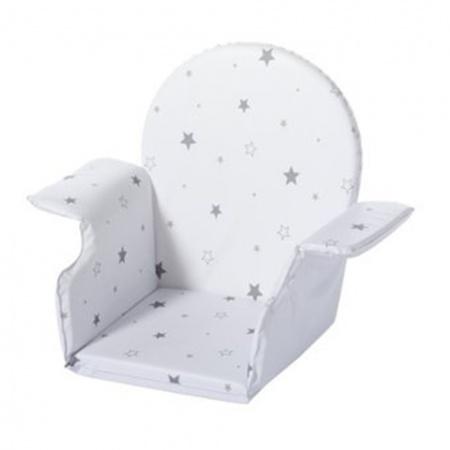 Stoelverkleiner Voor Kinderstoel.Schardt Stoelverkleiner Wit Met Grijze Sterren Stoelverkleiners