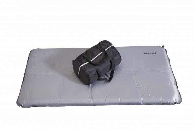 Deryan self inflatable matras voor campingbed antraciet matrassen