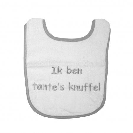 Slabber Ik Ben Tante's Knuffel Wit/Grijs