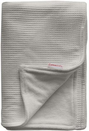 Cottonbaby Wiegdeken Gevoerd Wafel Lichtgrijs<br/ > 75 x 90 cm