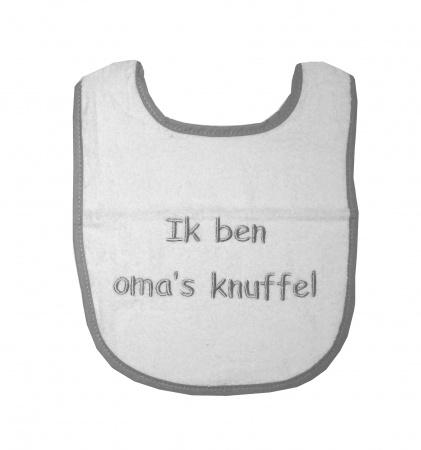 Slabber Oma's Knuffel Wit/Grijs