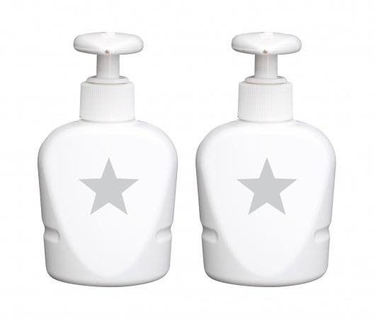 Bébé-Jou Zeepdispensers Silver Stars 2 Stuks