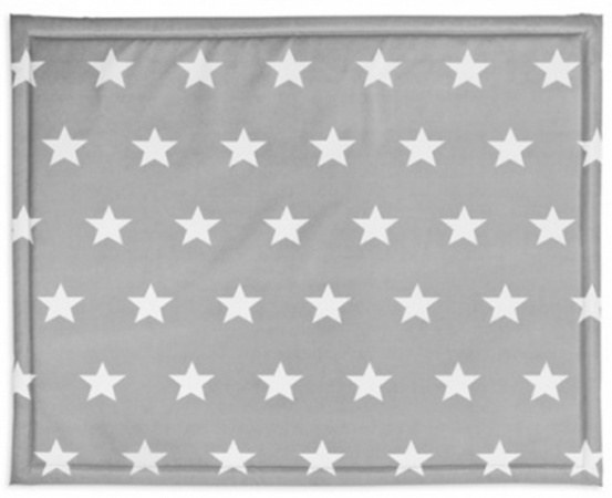 Jollein Boxkleed Little Star Dark Grey <br> 75 x 95 cm