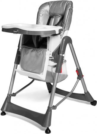 Qute Kinderstoel Q-Diner Zilver