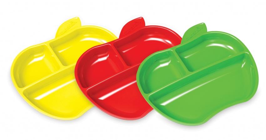 Munchkin Lil' Apple Plates <br> 6mnd+ (3 Stuks)