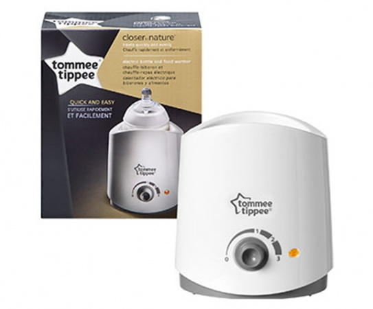 Tommee Tippee Flesverwarmer <br> Closer To Nature White
