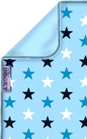 Dooky Deken Katoen  Blue / Blue Stars<br> 70 x 85 cm