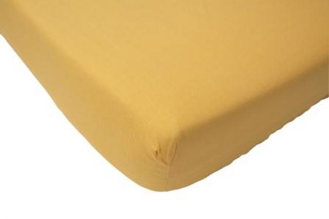 Hoeslaken Jersey Geel <br> 60 x 120 cm