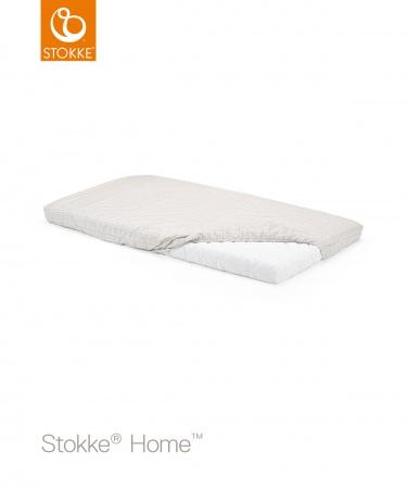 Stokke® Home™  Hoeslaken Wit/Beige Check