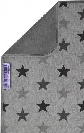 Dooky Deken Katoen Grey Stars<br> 70 x 85 cm