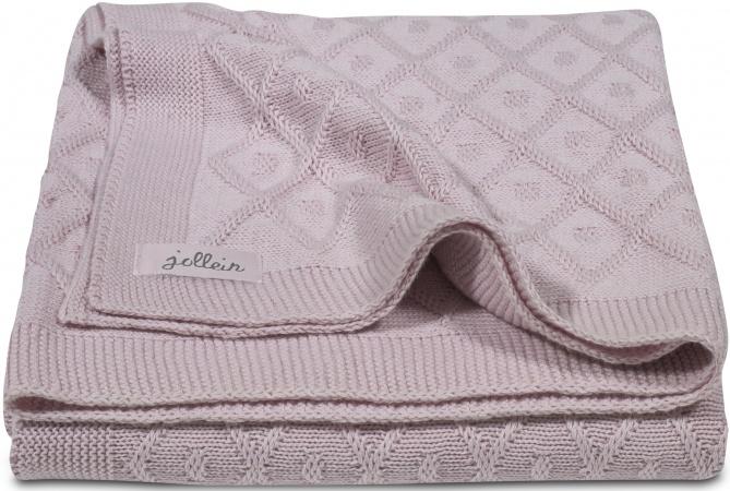 Jollein Zomerdeken Diamond Knit<br> Vintage Pink 75 x 100 cm