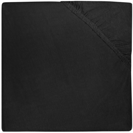 Jollein Hoeslaken Jersey 60 x 120 cm Black