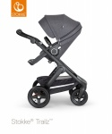 Stokke® Trailz™ Black Terrain Wheels with Black Leatherette Handle