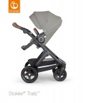 Stokke® Trailz™ Black Terrain Wheels with Brown Leatherette Handle