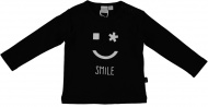 T-Shirt Smile Zwart