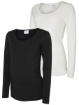 T-Shirt Lea Organic Black/Snow White