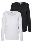 T-Shirt Lea Nell Black/Snow White
