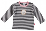 T-Shirt Stripe Dark Grey
