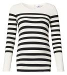 T-Shirt Striped Ecru/Black