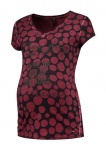 T-Shirt Dots Burgundy