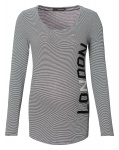 T-Shirt London Black Stripe