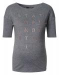 T-Shirt Print Anthracite Melange