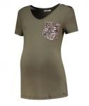 T-Shirt Glitter Pocket Olive