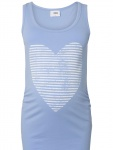 Tanktop Heart Stripe Hydrangea