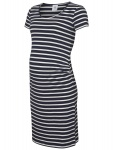 Jurk Lea Organic Stripe Navy Blazer