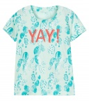 T-Shirt Demin Dusty Aqua