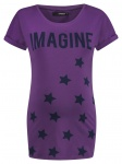 T-Shirt Text Purple