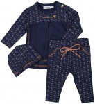 3-Delige Set Dots Copper Navy