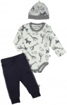 3-Delige Set Romper Zoo Grey