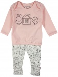 2-Delige Set T-Shirt House Pink