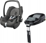 Maxi-Cosi Pebble Triangle Black + FamilyFix