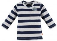 T-Shirt Streep Navy