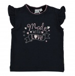 T-Shirt Korte Mouw Love Navy