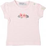 T-Shirt Korte Mouw Stripe Light Pink