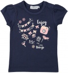 T-Shirt Korte Mouw Enjoy Navy