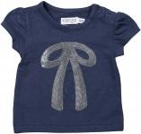 T-Shirt Korte Mouw Bow Navy